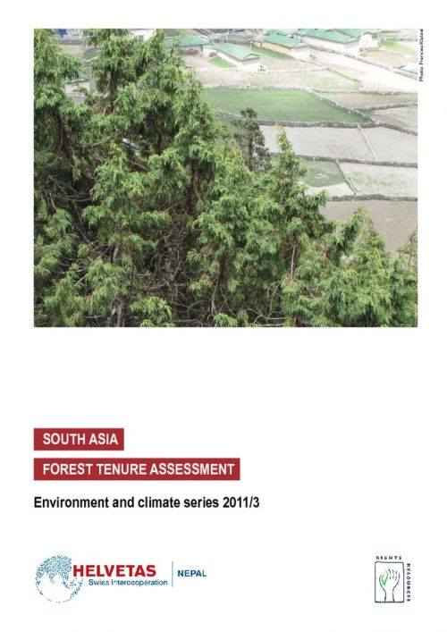 South Asia Forest Tenure Assessment