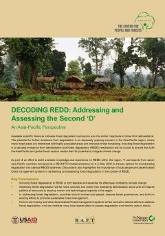Decoding REDD: Addressing and Assessing the Second 'D'