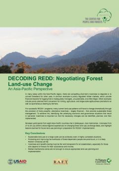 Decoding REDD: Negotiating Forest Land-Use Change