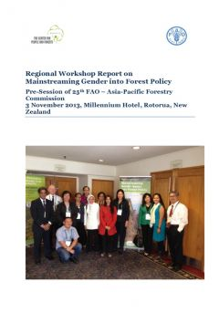 Regional Workshop Report on mainstreaming gender into forest policy