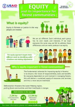 Infographic: Equity in forests and climate change