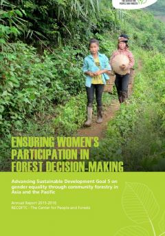 Ensuring Women's Participation in Forest Decision-Making (Annual report 2015-2016)