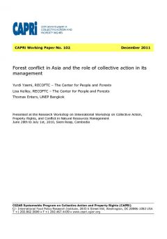 Forest Conflict in Asia and the Role of Collective Action in its Management