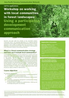 Working with Local Communities in Forest Landscapes: Using a Participatory Development Communication Approach
