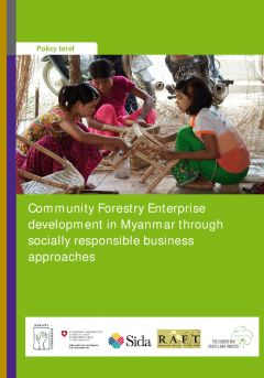 Community Forestry Enterprise development in Myanmar through socially responsible business approaches