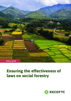 Ensuring the effectiveness of laws on social forestry